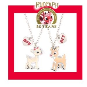 BFF🆕Necklaces Set Rudolph & Clarice 50 Years
